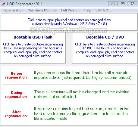 Bootable cd dvd flash drive repair hard disk