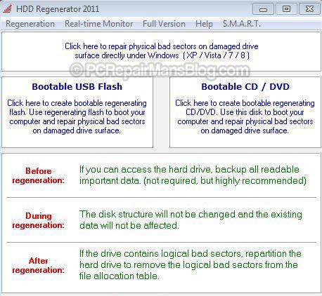 Bootable cd dvd flash drive repair hard disk