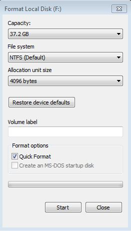 Format external drive FAT32 using Windows 7, XP or Vista