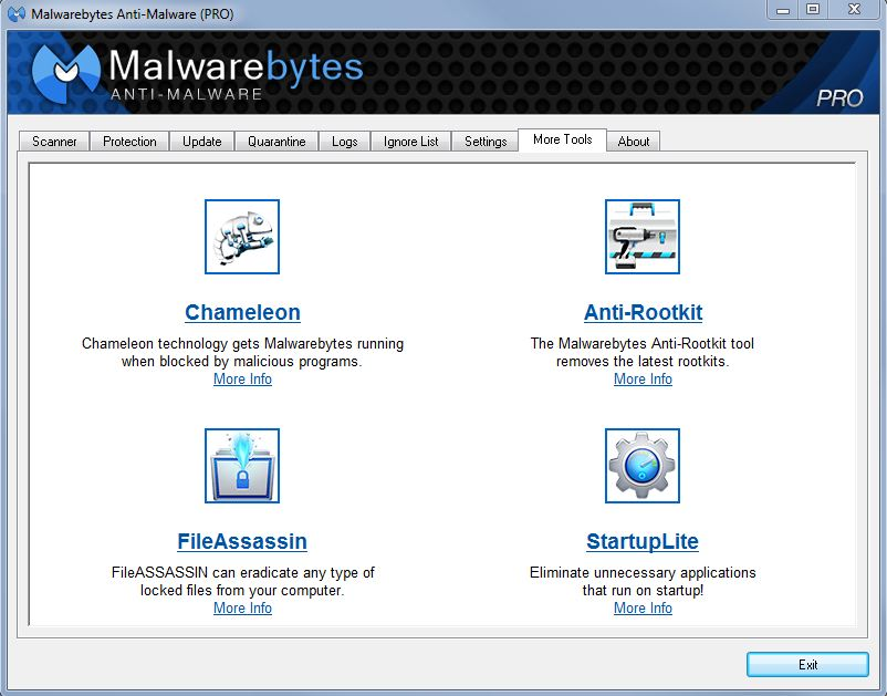 MalwareBytes Anti-Malware version 1.7 update