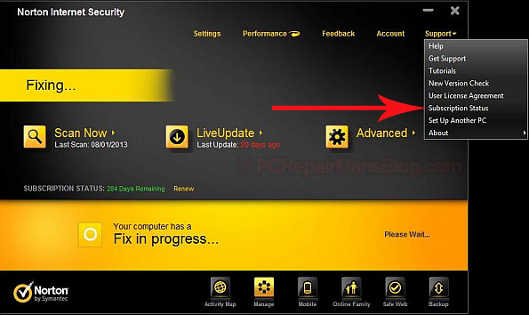 Norton internet security subscription expired